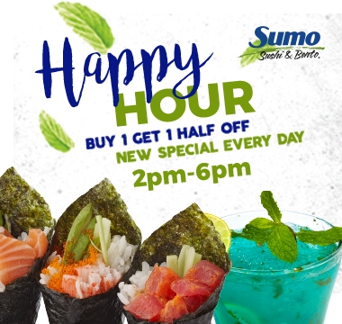 HAPPY HOUR from 2PM - 6PM!!!