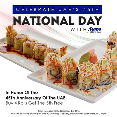 Celebrate the 45th National Day at Sumo!