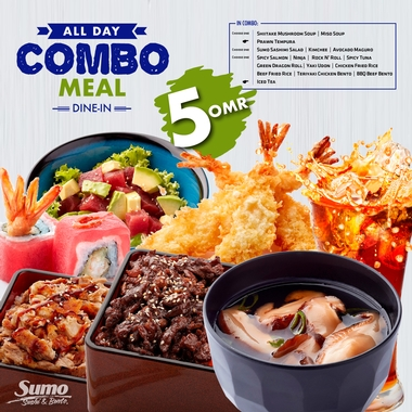 Combo Meal at 5.000 OMR!
