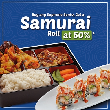Get a Samurai Roll at 50% off